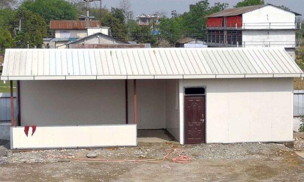 prefabricated house using puf panel in nepal