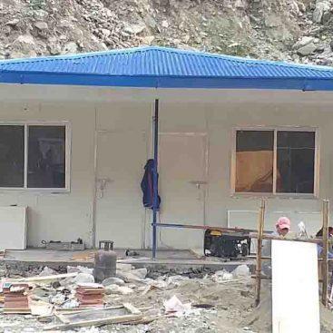 Construction of Kabeli Hydropower Using Sandwich PUF PUF Panel